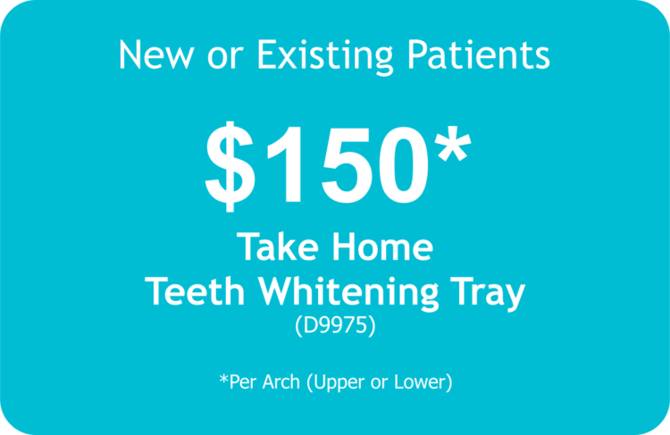 Juana Geldres DDS PA - Dental Art Design - West Palm Beach Dentist - Dental Promo Take Home Teeth Whitening Tray